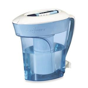 ZeroWater ZP-010 Water Filtration Pitcher, 10-Cup, Blue and White