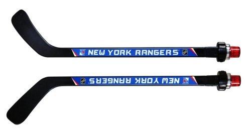 NHL New York Rangers Goal Light Stick (Righty), Medium, Black