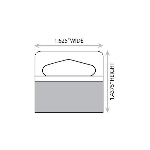 1-5/8'' X 1-7/16'' Slot Holed Adhesive Hang Tabs 1000/Pack