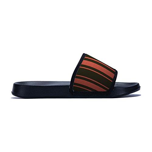 Non Black Slippers Slip Quick Stripe Summer Drying Womens for Breathable Family Slipper Red Pattern 8q68aw