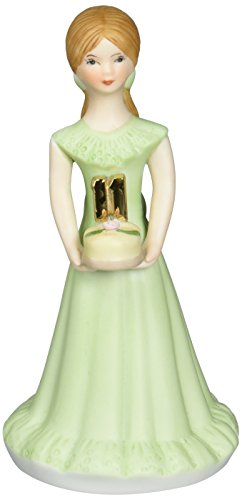 "Enesco Growing Up Girls ""Brunette Age 11"" Porcelain Figurine, 5.5"""