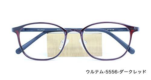 ザ サプリメガネ PCメガネ ブルーライト94% カット 紫外線ほぼ100%カット 度なし(調節補助機能付き) (ダークレッド) ウルテム-5556  ダークレッド B07HYFDDF8