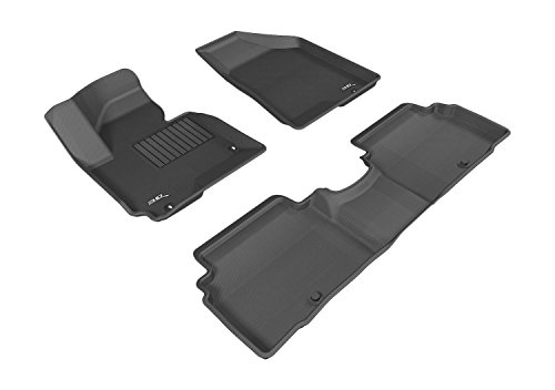 3D MAXpider All 2 Row Custom Fit Floor Mat for Select Kia Sportage Models - Kagu Rubber (Black)