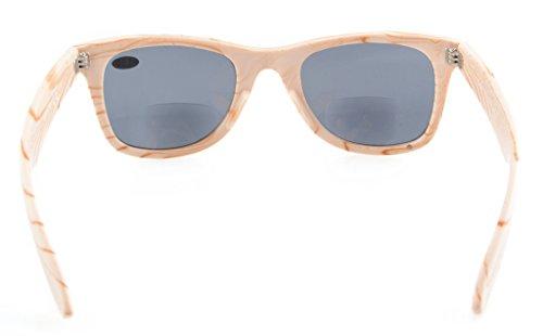 gris sol Rayas Bifocales Eyekepper 1 Clásico Gafas Blanca de 75 Lente WwTqY6Iq