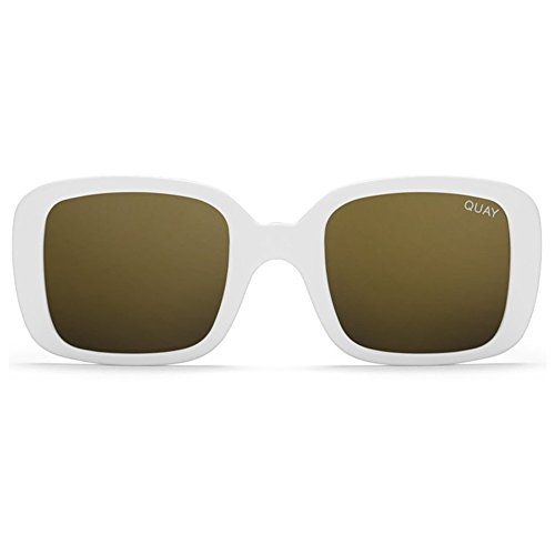 Quay x Kylie Jenner 20s Sunglasses | Vintage Frames - Mirror Lens | UV - White Sunglasses Quay