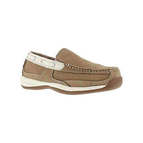 (Rockport Work Women's Sailing Club RK673 Work Shoe, Tan/Cream, 7.5 W US)
