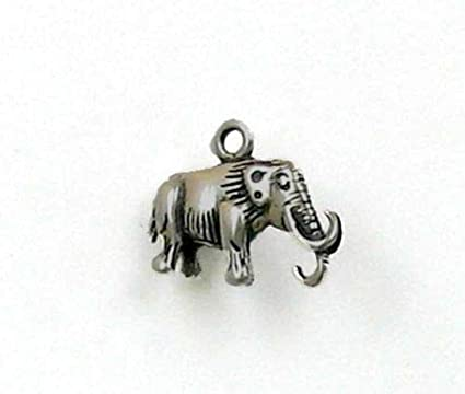 Amazon com: Sterling Silver 3-D Woolly Mammoth Charm