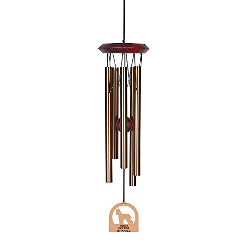 Chimes of Your Life 638845880305 Irish Water Spaniel E4500-14 Dog Wind Chime, Bronze