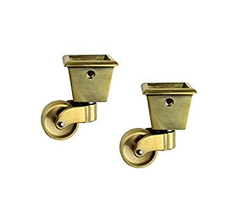 Beau RZDEAL 2PCS Universal Caster 360 Degree Rotation Square Cup Brass Heavy  Wheel Hardware Movable For Trunk