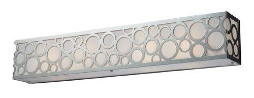 Elk 31023/4 Retrovia 4-Light Vanity In Polished Nickel by ELK