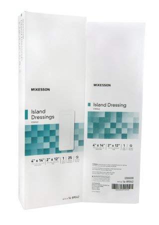 MCKESSON Adhesive Island Dressing McKesson Polypropylene / Rayon 4 X 14