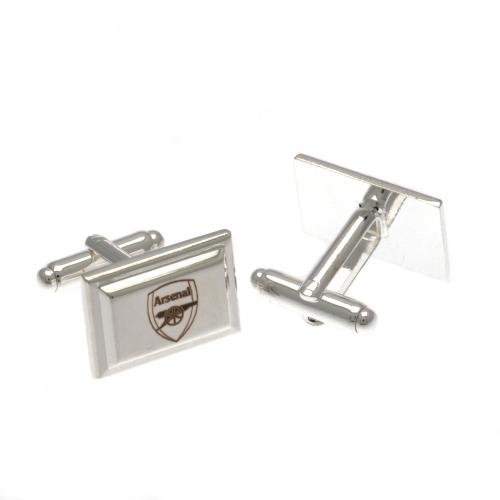 Footie Gifts Arsenal F.C - Silver Plated Cufflinks
