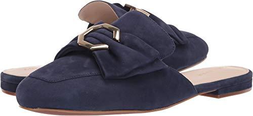 Cole Haan Women's Leela Bow Loafer Mule Marine Blue Suede 7 B US (Bow Mule)