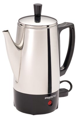 National Presto Ind 02822 Coffee Percolator, Stainless Steel, 6-Cup - Quantity 2