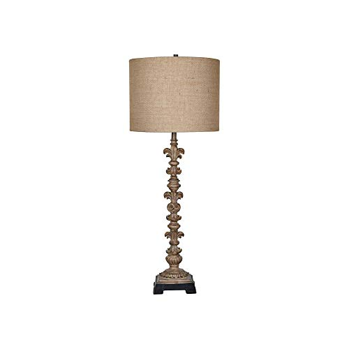 Crestview Collection Beezley Antique Cream Candlestick Table Lamp from Crestview Collection