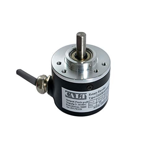 38mm Outer Diameter Solid Shaft 6mm Optical Rotary Encoder 2000 PPR 5V Line driver