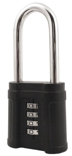 Security Storage Unit (FJM Security SX-874 4-Dial Long Shackle Combination Padlock With Black Finish)