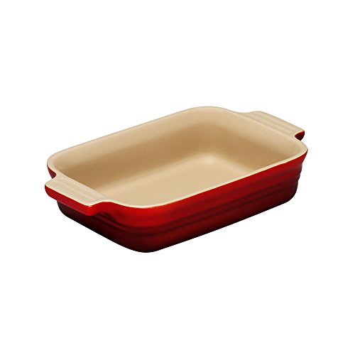 Le Creuset Stoneware 7-by-5-Inch Rectangular Dish, Cherry
