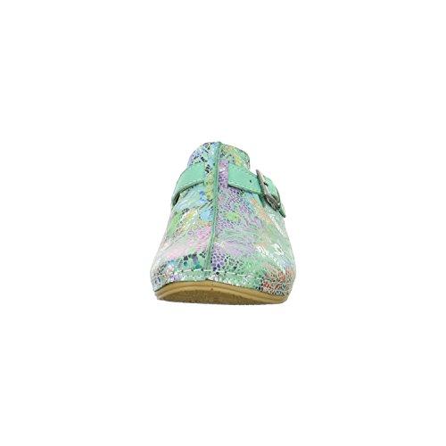 Verde Conti Zuecos 0021681 mujer Piel mint para de Kombi Andrea Bz76z