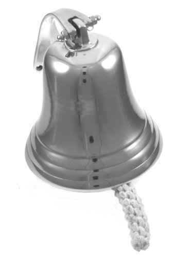 7 Polished Aluminum Dinner Bell - Nautical Ship Decor by RedSkyTrader