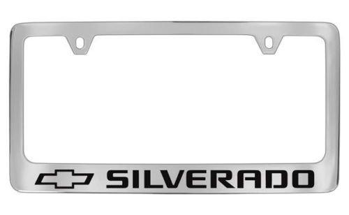 (Chevrolet Silverado Chrome License Plate Frame (metal))