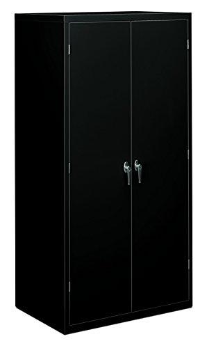 Base Utility Cabinet Storage (HON Brigade Series Five-Shelf Storage Cabinet - High Storage Cabinet, 36w by 24d by 72h , Black (HSC2472))