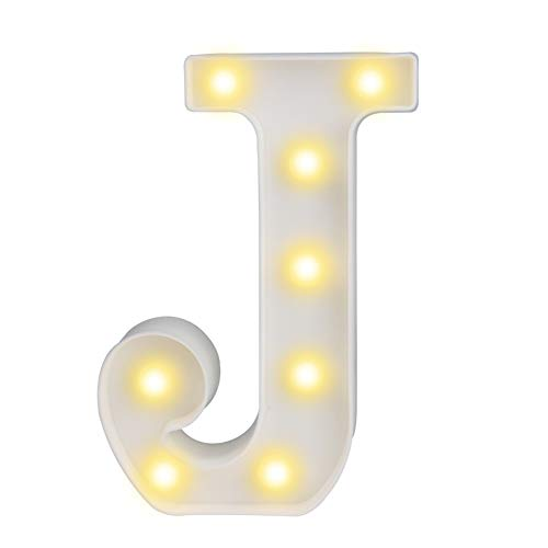 Pooqla LED Marquee Letter Lights Alphabet Light Up Sign for Wedding Home Party Bar Decoration ()