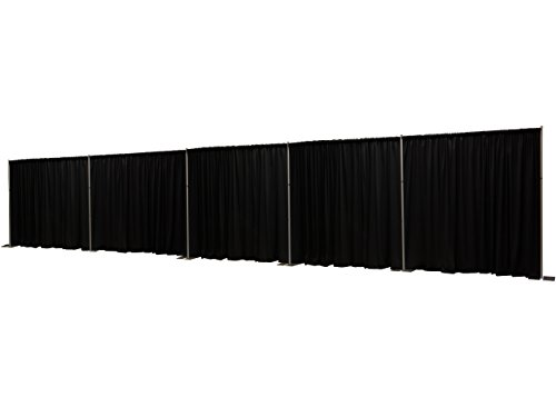 OnlineEEI UT-FOHF-ZD75, Premier Portable Pipe and Drape Backdrop Kit 8ft X 50ft, Black Premier Drapes Included