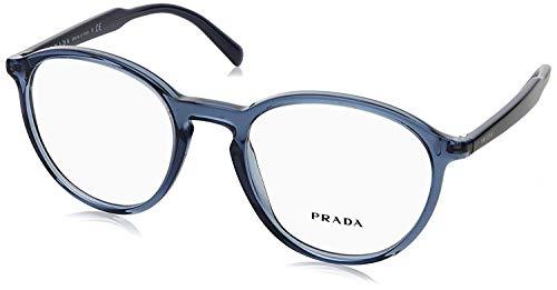 (Prada Men's PR 13TV Eyeglasses Transparent Blue 49mm)