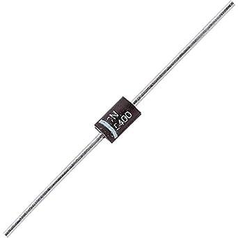 Dioteca 1N5407 - Pack de 50 diodos rectificadores (3 A, 800 V): Amazon.es: Industria, empresas y ciencia