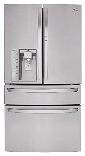 LG LMXS30776S French Door Refrigerator, 30.0 Cubic Feet, Stainless Steel