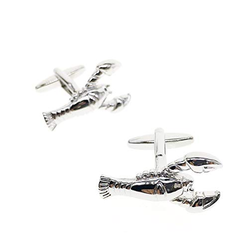 Cuff-Arts Cufflinks for Men Animal Lobster Cufflinks with a Gift Box C10130 ()