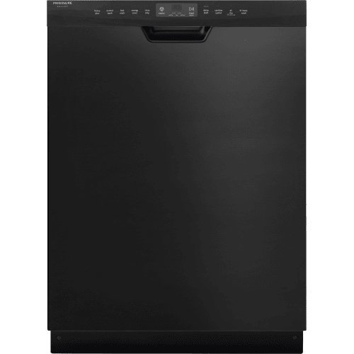 Frigidaire FGCD2456QB 24'' Gallery Built-In Dishwasher with 5 Wash Cycles Stainless Steel Tub Adjustable Upper Rack Energy Star Rated DishSense Technology Express-Select Controls and AquaSurge Technology in by Frigidaire