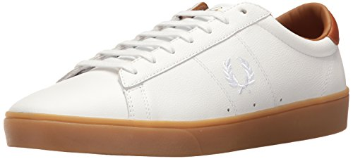 FRED PERRY SPENCER LEATHER WHITE size 36