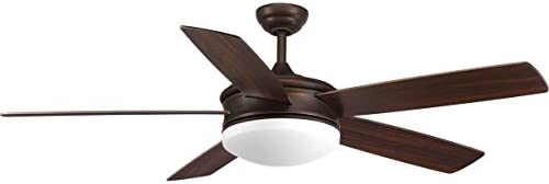 Progress Lighting P2548-2030K Fresno Collection 60 Inch LED Indoor Antique Bronze Industrial Ceiling Fan with Light Kit and Remote