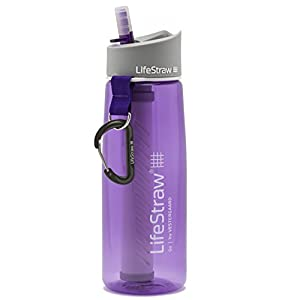LifeStraw Go Water Filter Bottle with 2-Stage Integrated Filter Straw for Hiking, Backpacking, and Travel, Purple 13