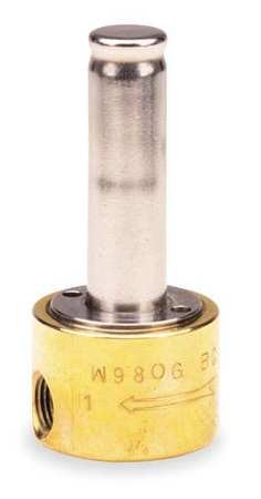 Dayton Brass Solenoid Valve Less Coil, 2-Way Valve Design, Normally Closed Valve Configuration - 3A422