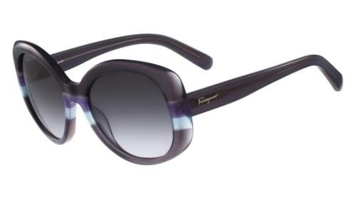 Salvatore Ferragamo Womens UV Protection Gradiant Round Sunglasses Gray O/S -