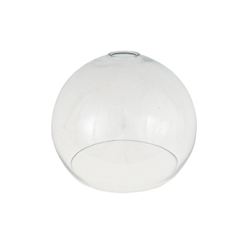 clear open globe glass light shade 250mm for pendant lighting