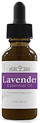Pur360 Lab Tested and Verified Lavender Essential Oil, Therapeutic Grade For Sleep, Hair, Aromatherapy, Skin, Body, Massage, Anxiety
