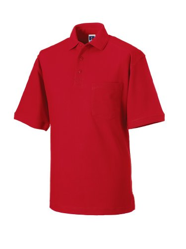 Russell Collection Strapazierfähiges Piqué Arbeits-Poloshirt R-011M-0 XL,Classic Red