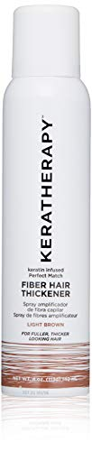 KERATHERAPY Keratin Infused Perfect Match Fiber Hair Thickener, Light Brown, 4 oz