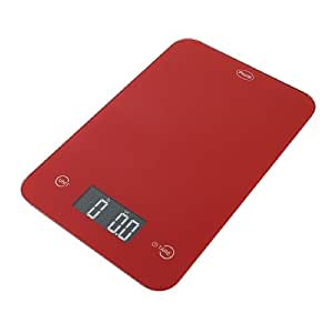 American Weigh Digital Glass top Kitchen Scale, 5000 Grams, Red 1 ea(Pack of 1)
