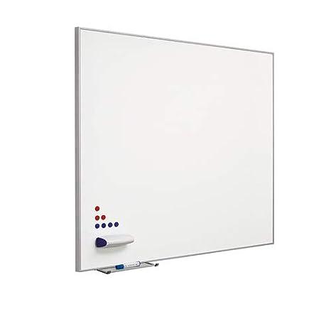 Pizarra blanca en acero vitrificado con marco MINI 100x120 ...