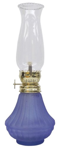 Glo Brite by 21st Century L808BL Daylite Glass Oil Lamp, Frost Blue
