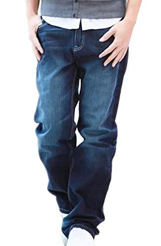 GXWSRY-JP メンズ デニムパンツ ロングパンツ ジーンズ ゆったり ボトムス クラッシュ 大きいサイズ 男 秋服 ストレッチ ズボン サンタリート ジーパン スキニー 学生 ファッション オールシーズン 通気性 無地 カジュアル