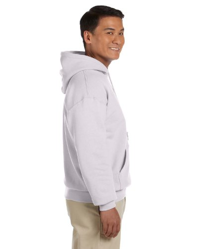 Gildan Men's Rib Knit Hooded Sweatshirt, Ash, Large