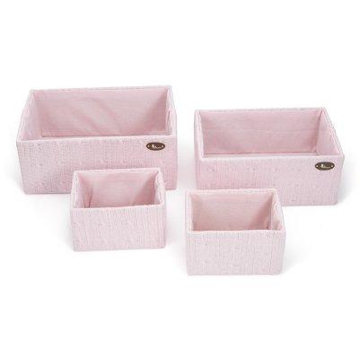 Set Cajas de lana de BebeDeParis en Rosa - cajas de almacenaje para habitación del bebé