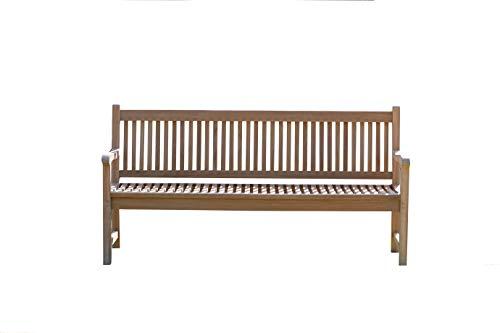 Field & Hawken – Windsor – 4 Seater Garden Bench – 1.8m Solid Teak Garden Bench / 6ft Bench – Contemporary Teak Bench…