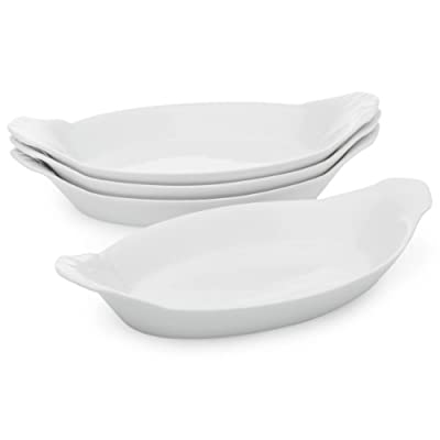 HIC Porcelain Oval Au Gratin 10-inch